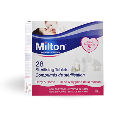 Milton Sterilising Tablets. 28 Pack. Baby & Home.
