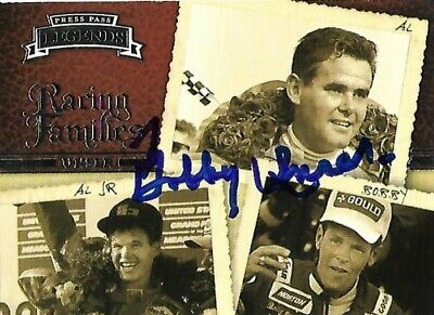 Bobby Unser signed 2009 PRESS PASS LEGENDS card #64 INDY GREAT