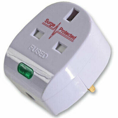 Anti Surge Protection 13A 13AMP  Surge Protected Plug Top Adaptor, Rewireable
