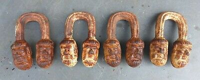 Vintage  Cast  Iron  Ugly  Heads    See   Details