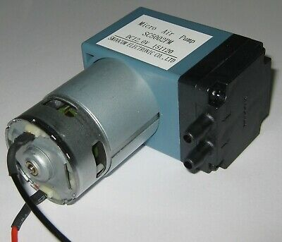 12 V DC Single Diaphragm Head Pressure / Vacuum Pump - 10 L/min - 29 PSI max