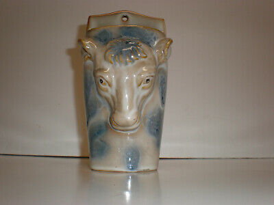 Lovely Vintage Roman Or Italianate Style Cow Head Wall Pocket - 6""