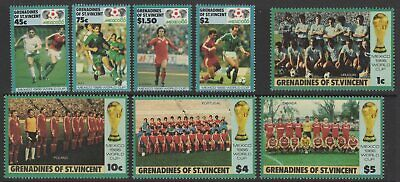 Grenadines Of St.vincent Sg468/75 1986 World Cup Football Championship Mnh