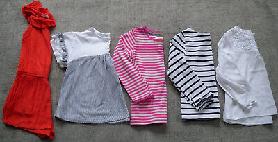 Bundle 5X Girls Casual Tops/ Playsuit Boden /H&M / Next Age 5 - 6 Breton Stripes