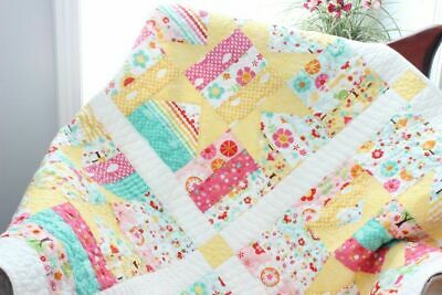 YELLOW STARS ~ New Handmade Baby Girl Quilt