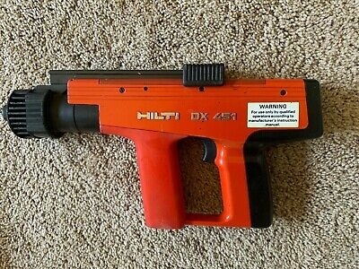 Hilti DX 451 Powder Actuated Nail Gun Fastener Tool w/ Case & Accessories