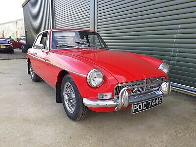 1969 MG MGB GT Tartan Red, chrome wire wheels, overdrive