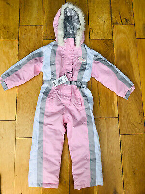 NEW Ski Snow Suit Glacier Point Snow Angel All In One Winter Pink Age 2-3