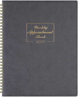 "2020 Weekly Appointment Book  Planner - 2020 Daily Hourly Planner 8.4"" x 10.6"