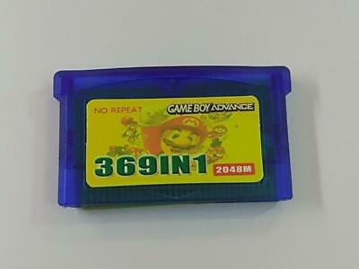 369 in 1 Game Boy Advance Cartridge Multicart for GBA NDS GBA SP GBM NDS NDSL