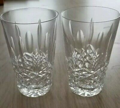 Set of 2 Vintage LISMORE Waterford Crystal 8 oz Drinking Glasses.  Free Shipping