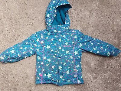 Mountain Warehouse jacket - Girls age 3-4 -  Blue and Pink Stars