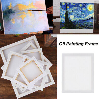 Blank Artist Canvas Art Board Plain Painting Stretched Framed Large Small