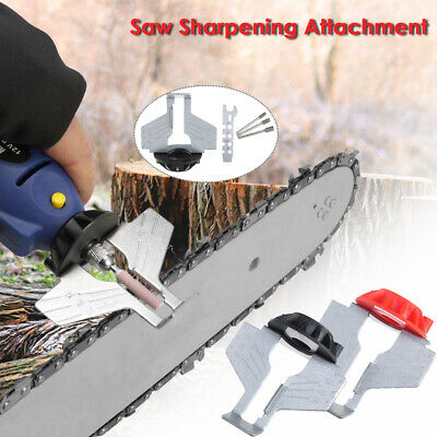 Saw Sharpening Attachment Sharpener Guide Drill Adapter Tool Kit For Steel  T