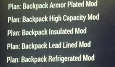 fallout 76 xbox one Backpack Plan Full Set Xbox Rare Plans