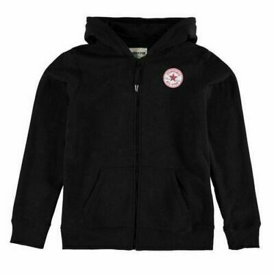 CONVERSE Girls Black Pink Chuck Taylor Full Zip Hooded Sweater 12-13 Years BNWT
