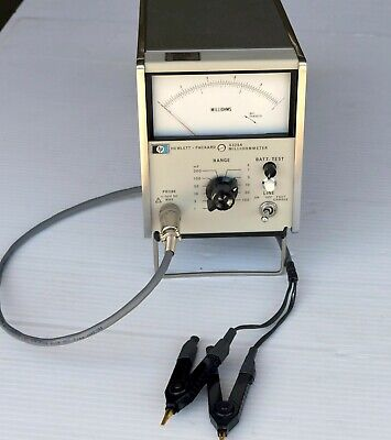 CALIBRATED HP 4328A Milliohmmeter with Kelvin Probes