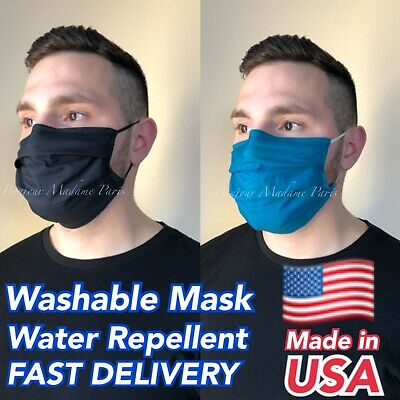 Face Cloth Mask w Filter Pocket Washable Fabric Face Cover Nose Mouth Covering