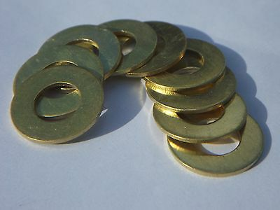 M10 BRASS FLAT WASHERS - Form B - (Pack of 10)
