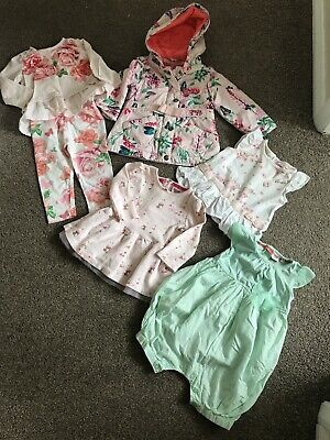 baby girls Ted Baker Summer Bundle 6-9 Tops Playsuit 9-12 Coat Outfit