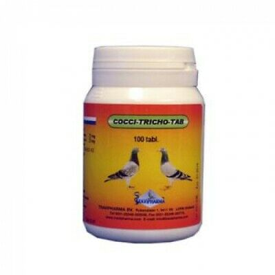 Pigeon Product - Cocci-Tricho-Tab - Coccidiosis and Canker - by Travipharma