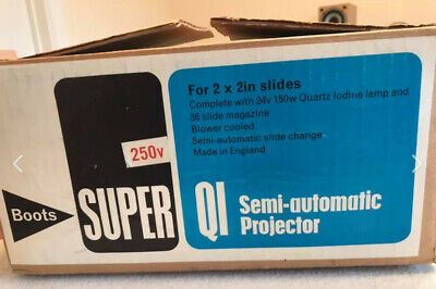 Vintage Boots Super QI Model 11 Slide Projector (in original box)