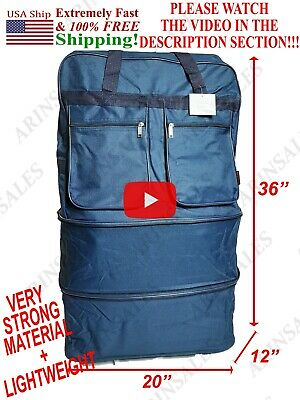"36"" Bag duffle rolling expandable luggage suitcase wheeled spinner ! SEE VIDEO !"