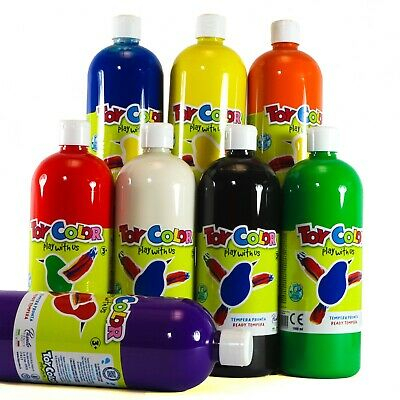 Ready-Mix Washable Tempera Paint 8 colours to choose  1000 ml  Children Painting