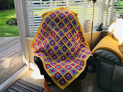 handmade crochet patchwork throw / blanket