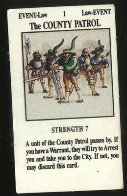 The City Patrol City Adventure Card for Talisman 2nd Edition by Games Workshop