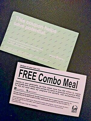 Taco Bell  Combo Meal Voucher***, NO EXPIRATION , Shipping 1 Business Day
