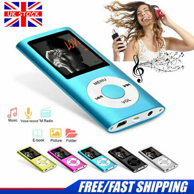 "IPod Style 32GB Portable 1.8"" LCD MP3 MP4 Music Video Media Player FM Radio UK"