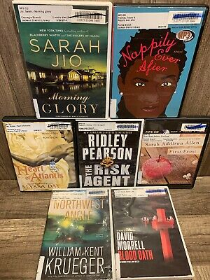 7 audiobook LOT books on MP3 CD audio book By Various authors and genres Lot 11