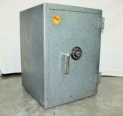 Vintage Hall's Standard Safe w/ S&G Combination Class C Fire-Insulated on Wheels