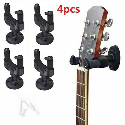Detachable Wall Mounted Guitar Hangers Auto Locking Grip Metal Base