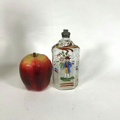 18th Century Hand Painted Bottle