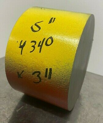 """4340 Hot Rolled Steel Round Bar Stock 5"""" Diameter Annealed - x 3 in Long"""