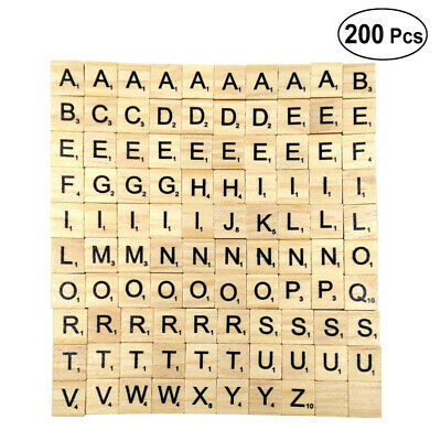 200PCS 26 English Letters Wooden Children Early Education Puzzle Letters Game