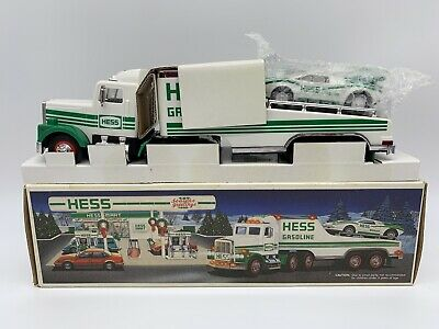 1991 Hess Toy Truck and Racer Car Original Box