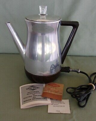 1960's WEST BEND Flavo-Matic 8 Cup Coffee Percolator Model 3258