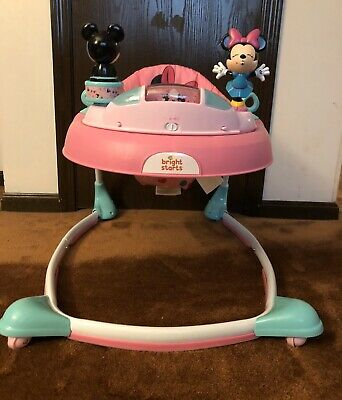 Bright Starts Disney Baby Minnie Mouse Baby Walker With Activity Station
