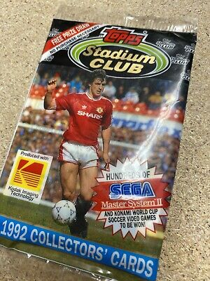 TOPPS FOOTBALL collectors CARDS STADIUM CLUB 1992 UNOPENED PACK  rare