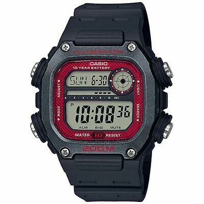 Casio Collection Quartz Digital LCD Dial Black Resin Strap Watch DW-291H-1BVEF