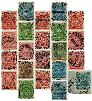 RHODESIA 1890-1915 Small Arms Issue POSTMARKS.. PRICED INDIVIDUALLY