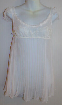 VICTORIA'S SECRET Cream Off White Babydoll Nightgown Size Medium with Bottoms