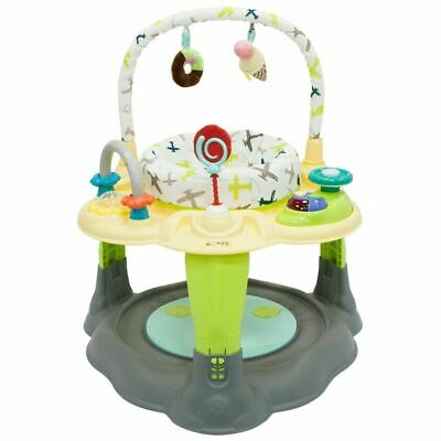Aeroplanes Activity Centre Play Table With Rotating Seat Toys Light & Music