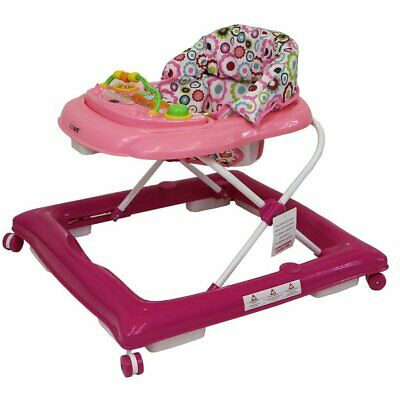 Baby Girls Age 6 Months Pink Purple Detachable Play Tray Walker