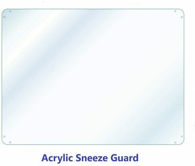 Sneeze Guard Divider Protection Barrier Shield Checkout Counter 1/16 Acrylic