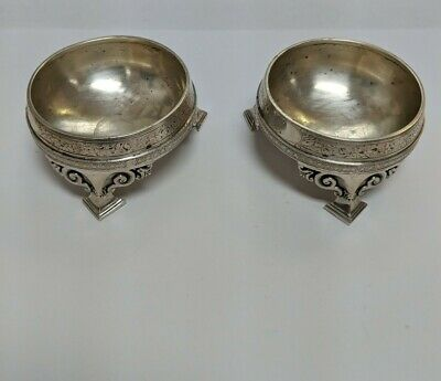 Tiffany & Co Union Square Sterling Silver Footed Salt Cellars