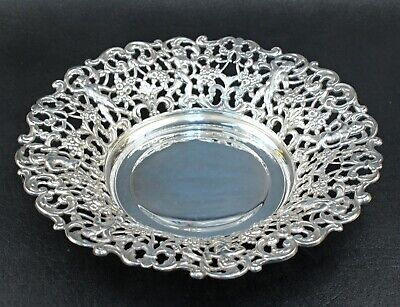 """11"""" Silver Plated Reticulated and Figural Bowl"""